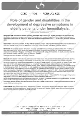 Role of gender and disabilities
